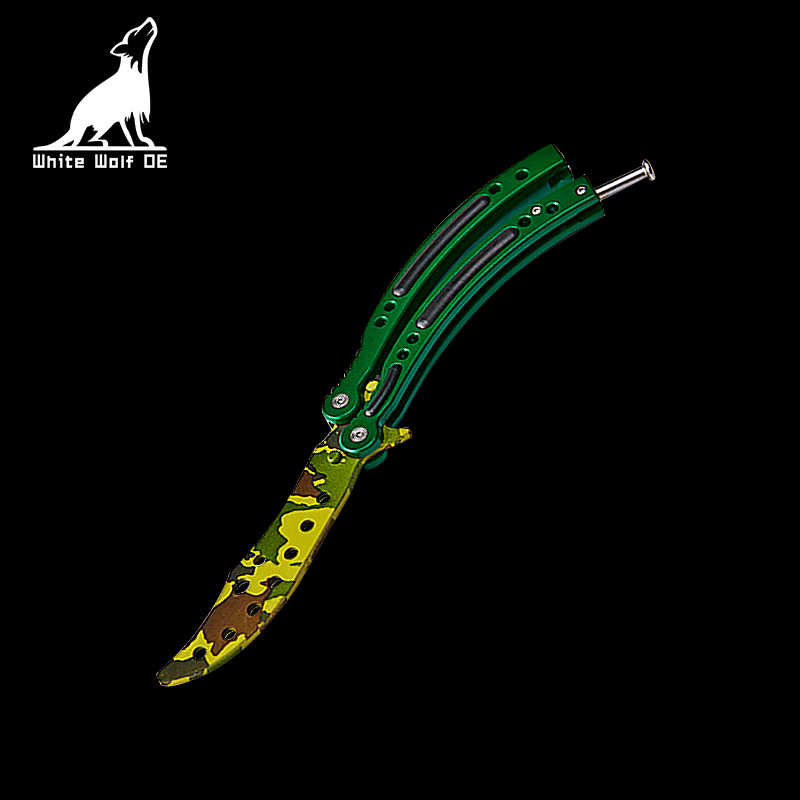 Karambit паук узор нож бабочка для взрослых детей фестиваль CS GO игра подарок игрушка тренировка практика бросание складной нож