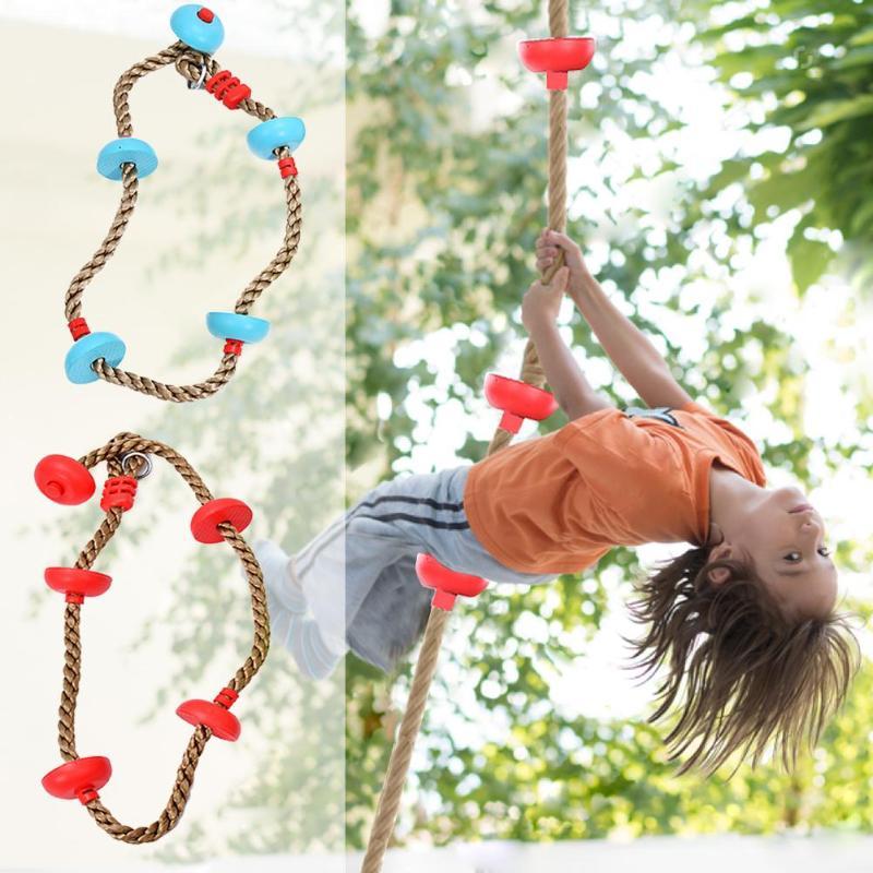 Children Climbing Rope Swing Disc Climbing Rope Kids Garden Playground Backyard Outdoor Swing Games Climbing Equipment Set Paracord     - title=