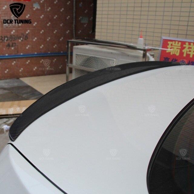 Para BMW F10 Spoiler rendimiento 2010 - 2016 5 serie F10 carbono Spoiler labios F10 M5 posterior tronco alas estilo de coche
