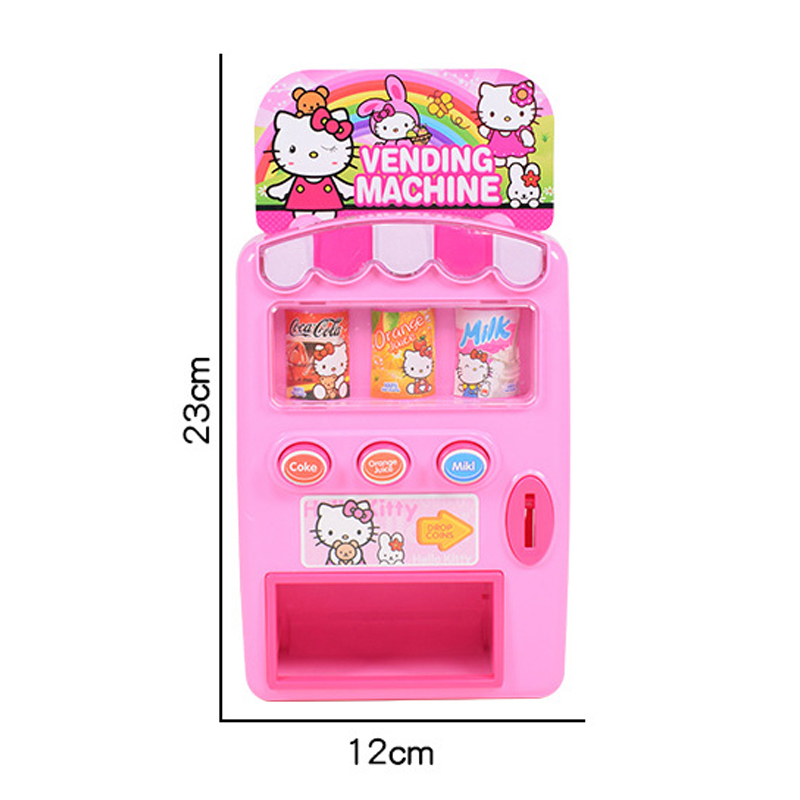 Simulation Automatic Talking Vending Machine Toys Kids Pretend Play Beverage Shopping Toys Gift Children Role Play House Toy