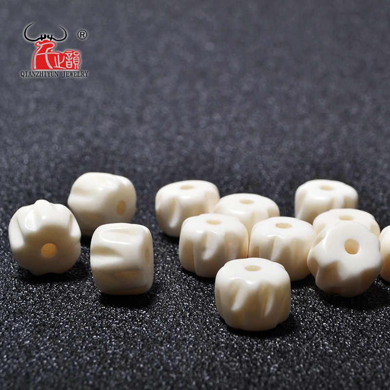 20pcs Yak Bone Prayer Beads Carved Bead Necklace Diy Scatter Beads Handmade Natural Bone Beads White Beads Aliexpress