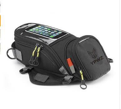 Мотоциклетная сумка для бака, масляный топливный магнит для сумки, Байкерская водонепроницаемая сумка-седло из Оксфорда, сумка для багажа, ...