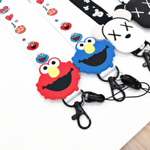 Mobile phone lanyard cute cartoon key ring hanging neck with ID card pass gym USBDIY sling