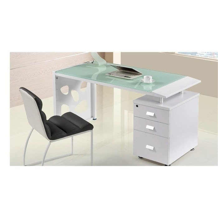 Table JACKIE, Chest Of Drawers To Right, Crystal, 140x70 Cms