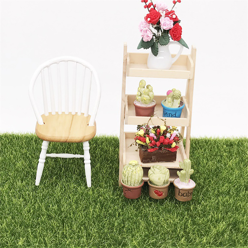 Faux Lawn Artificial Miniature Grass Fairy Garden Ornament Dollhouse Craft Decor