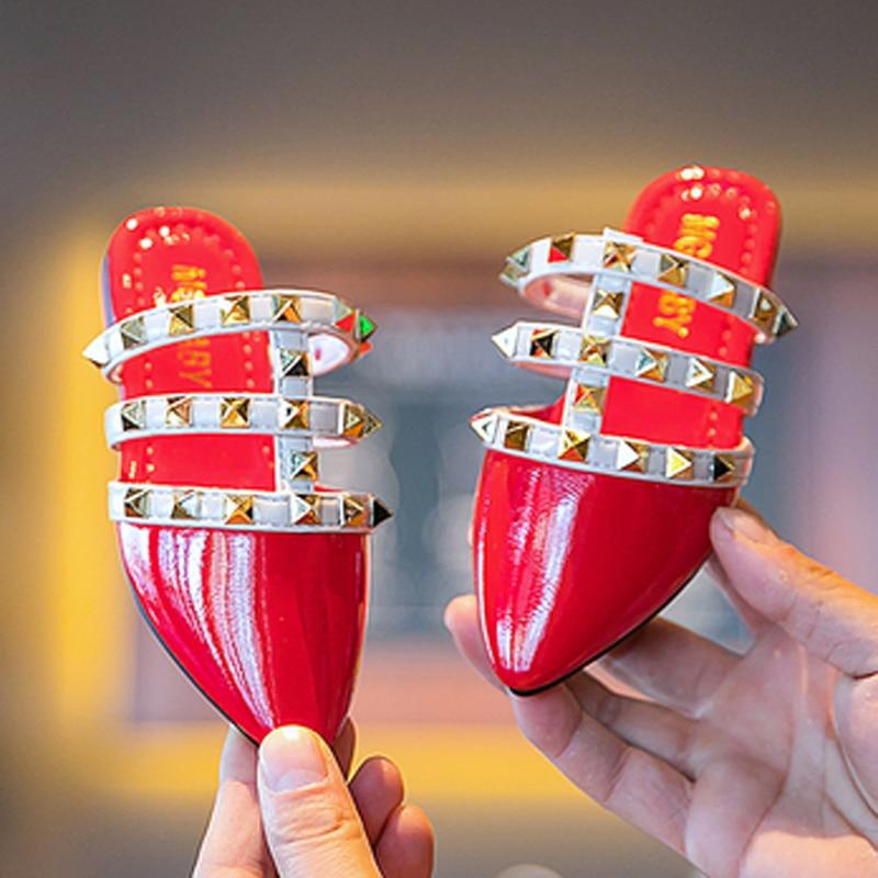 Baby Slippers For Kids  Girls Flip Flops Summer Beach Sandals Rivet Toddler Girls House Slippers Children Casual Shoes  Fashion