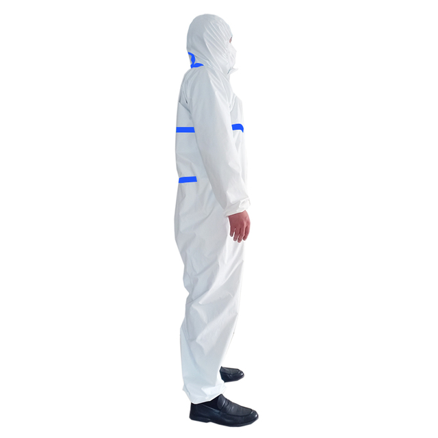 PPE Suit Anti-Virus  Coverall Hazmat Suit Protective Disposable Clothing Disposable Factory Hospital Safety Clothing 1