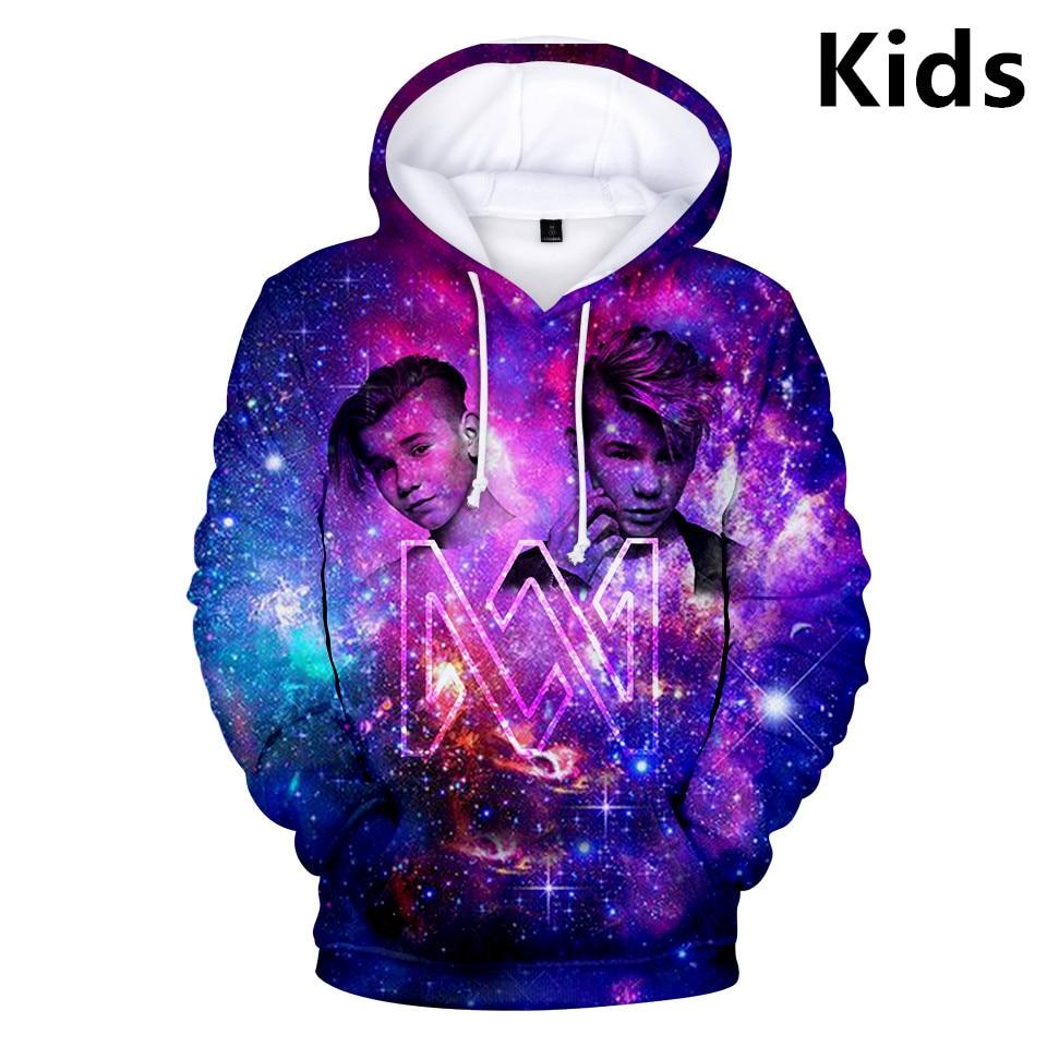 3 To 14 Years Kids Hoodies Marcus & Martinus 3D Printed Hoodie Sweatshirt Boys Girls Hip Hop Jacket Coat Children Clothes