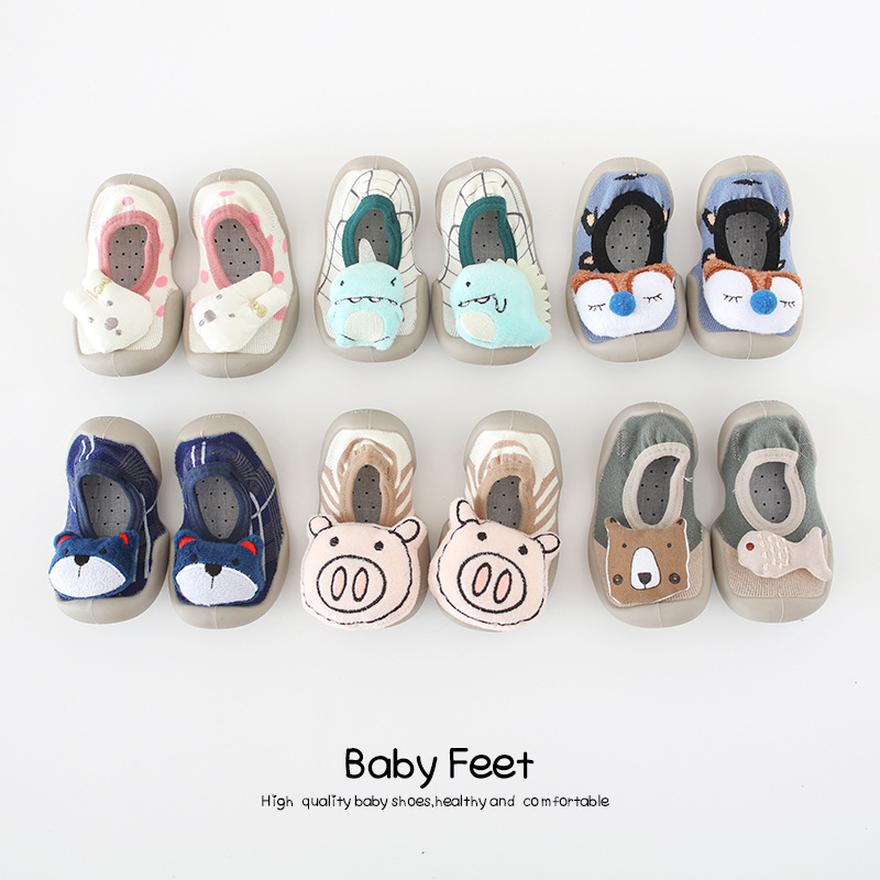 Toddler Baby Girls Sock Shoes Kids Rabbit Soft Sole Rubber Shoes For Girl Boys Socks Slipper Infant Baby Soft Anti-slip Shoes