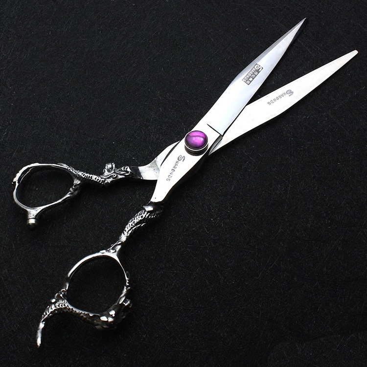 A Generation Of Fat Dragon Shear Hairdressing Scissors Wholesale 7-Inch Dragon Shear Hairdressing Shop Stylist Hairdressing Stra