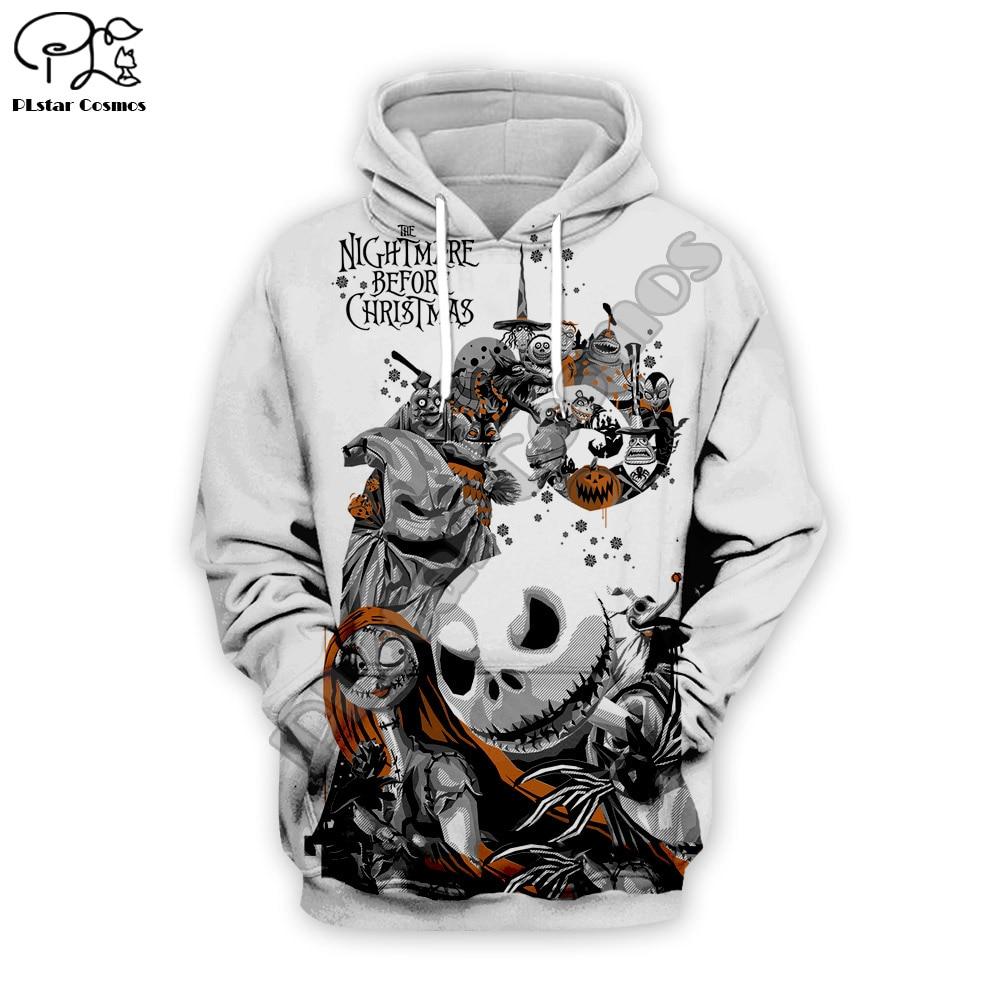 Jack Skellington /Jack/ Joker Suicide Squad 3d Men Women Sweatshirt Hoodies Nightmare Vor Weihnachten Halloween Streetwear WS003