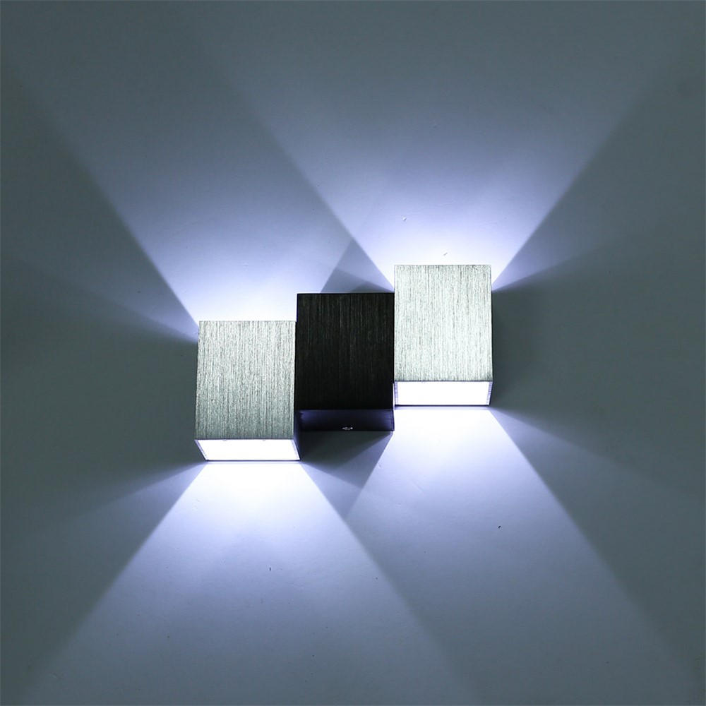 Indoor wall light Wavelike aluminum 110V 220V Led sconce Wall mounted Modern home decoration Bedroom Corridor Creative wall lamp
