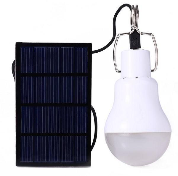 New 15W 130LM Solar Lamp Powered Portable Led Bulb Light Solar Led Lighting Solar Panel Camp Tent Night Fishing Light