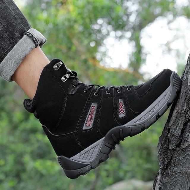 Botas t cticas de goma de moda para hombre c modas transpirables para senderismo seguridad para