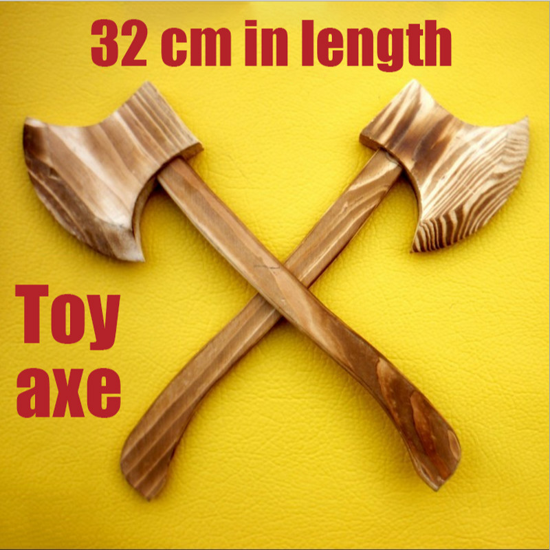 Wooden Toy Axe Halloween Cos Props Weapons Wushu Performance Equipment Gifts For Children Unopened Edge Toy For Kids image