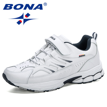 BONA 2020 New Arrival Action Leather Outdoor Work Safety Man Sneakers Non-slip Hot Sale Lace-up Casual Shoes Men Leisure - discount item  40% OFF Men's Shoes