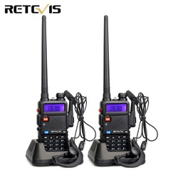 Retevis RT-5R Walkie Talkie 2pcs 5W VHF UHF FM Portable Two-way Radio Walkie-talkie Airsoft Game Ham Radio Frequency VFO Mode
