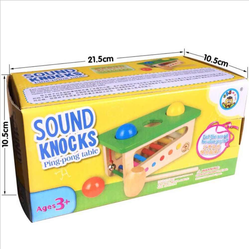 Ahşap ksilofon piyano ve top çekiç oyun müzik perküsyon enstrüman oyuncak çocuklar erken öğrenme eğitim oyuncak
