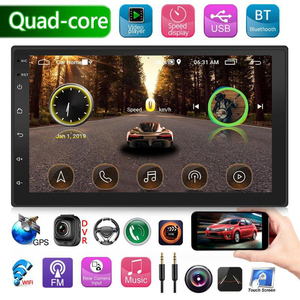 Upgraded 2 Din Android 9.0 Car Radio Double Stereo GPS Navigation Bluetooth Wifi USB Autoradio Head Unit Driving Speed Display
