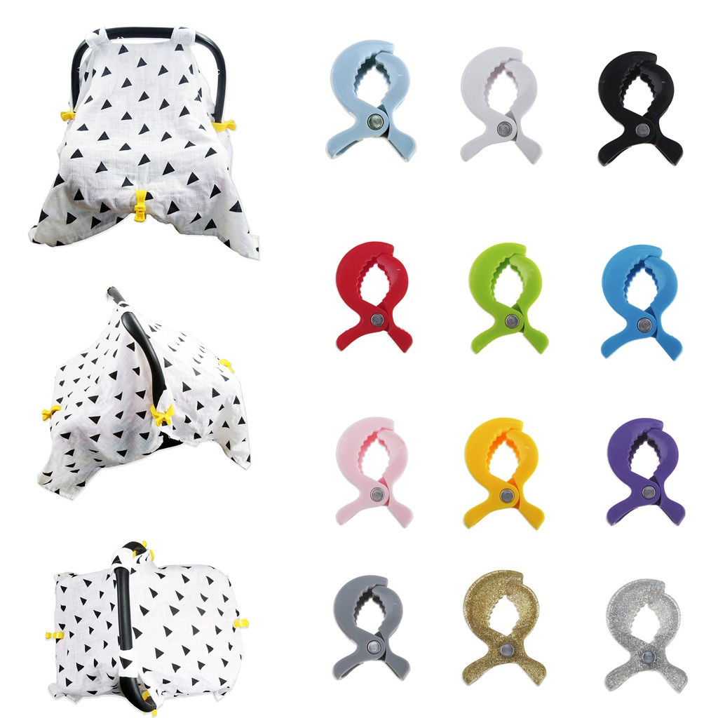 Baby Colorful Car Seat Accessories Plastic Pushchair Toy Clip Pram Stroller Peg To Hook Cover Blanket Mosquito Net Clip