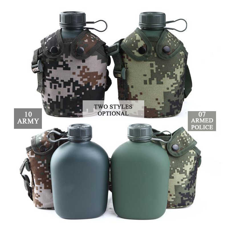 Camouflage Outdoor Portable Water Bottles Hiking Mountaineering Training Travel
