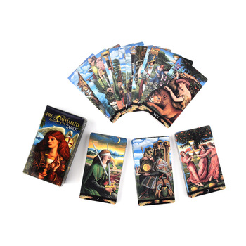 Pre-Raphaelite Tarot Card  illustrator of the Mystical Tarot Deck With with a sense of mystery and romance