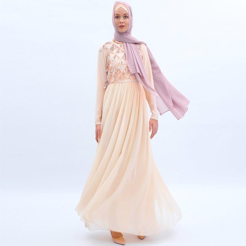 Muslim Dress Women Bangladesh Turkey Abaya Dubai Long Sleeves Islamic Clothing Elegant Lace Muslim Fashion Islamic