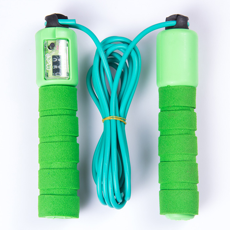 With Sponge Set Rubber Automatic Counting Jump Rope Children Plastic Skipping Rope Students Sports Supplies