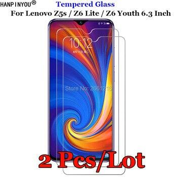 Перейти на Алиэкспресс и купить 2 шт./лот для Lenovo Z5s закаленное стекло 9H 2.5D Премиум Защита экрана Взрывозащищенная пленка Lenovo Z6 Lite/Z6 Youth 6,3 дюйма