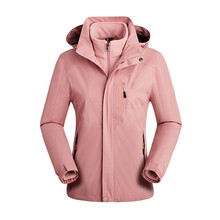 Women Outdoor Hiking Skiing Camping Waterproof Jacket Detachable Windbreaker Fleece Winter Thick Coat Softshell
