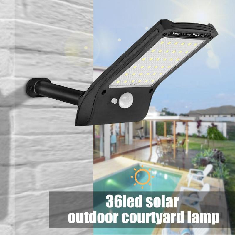 36LED Solar Power Motion Sensor Wall Lamp Waterproof Garden  Solar Sunlight Powered  Outdoor Security Light 2019 New Arrival