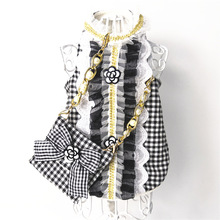 Cat Dog Clothes Bag Set Pet Dress Vest Luxury Pearl Decoration Classic Camellia Puppy Clothes for Dog Small Meduim Dog Chihuahua