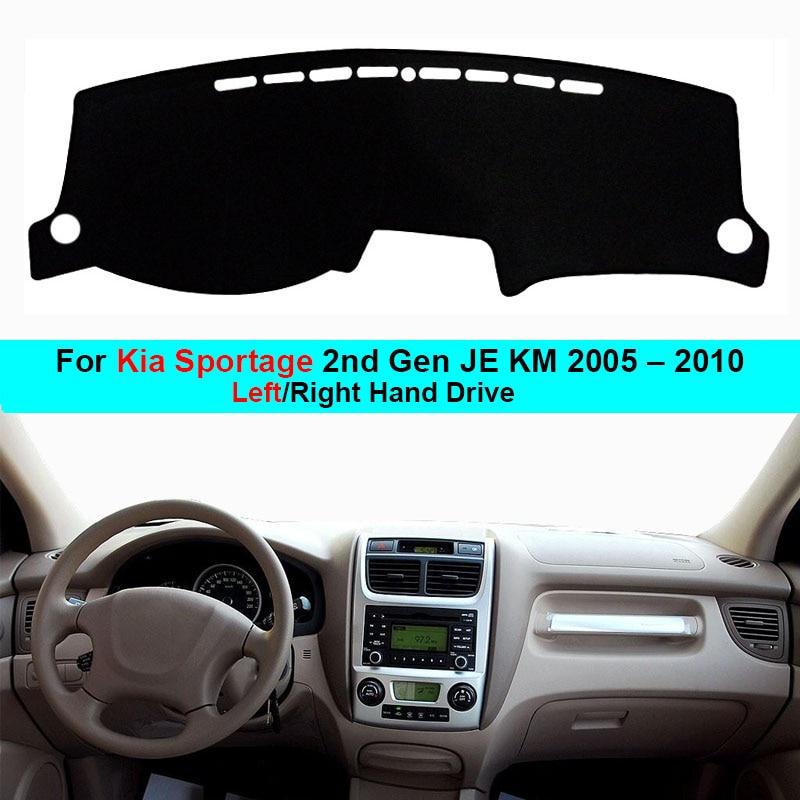 For Kia Sportage 2nd Gen JE KM 2004 – 2010 LHD RHD 2 Layers Car Auto Dashboard Cover Carpet Cape Dash Mat Dashboard Pad Anti-UV