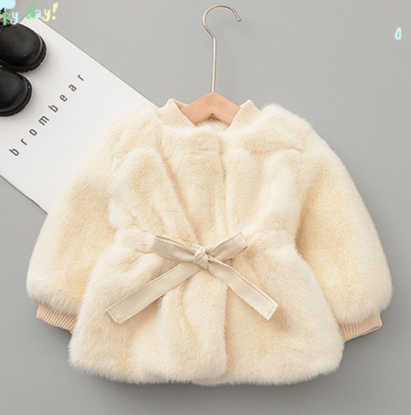 Girls Winter New Warm Imitation Velvet Sweater Girls Foreign Style Waist Jacket Ladies Birthday Party Birthday Party Jacket Shaw