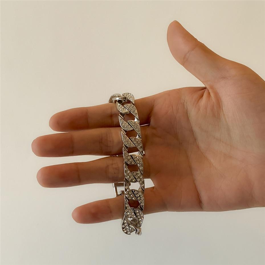 Iced out bling link bracelet
