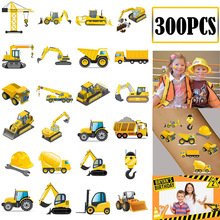 Party-Decoration Truck Happy-Birthday 1-2-3-4-5-6-7-Years-Old Gift Themed Car 5th 7th