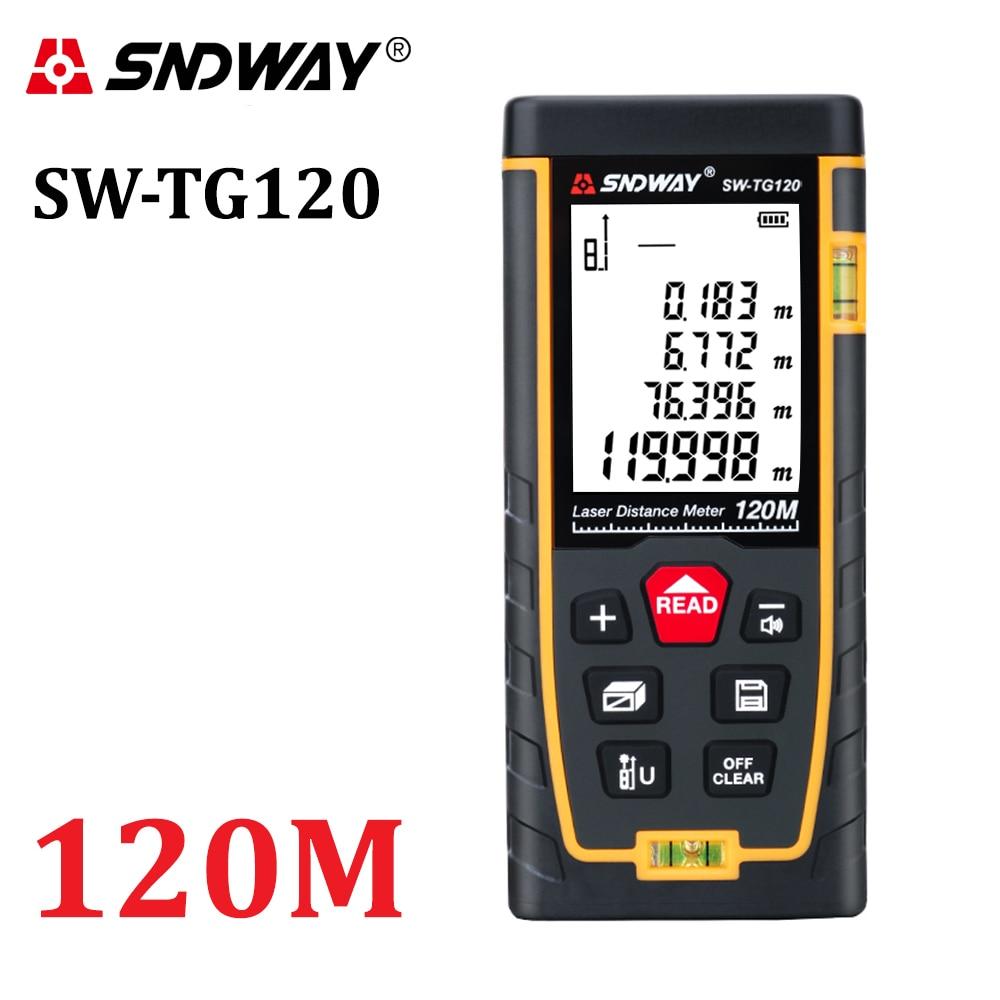 SNDWAY Laser Distance Meter Laser Rangefinder Trena Laser Tape Measure Distance Range Finder Ruler Diastimeter Roulette Tool