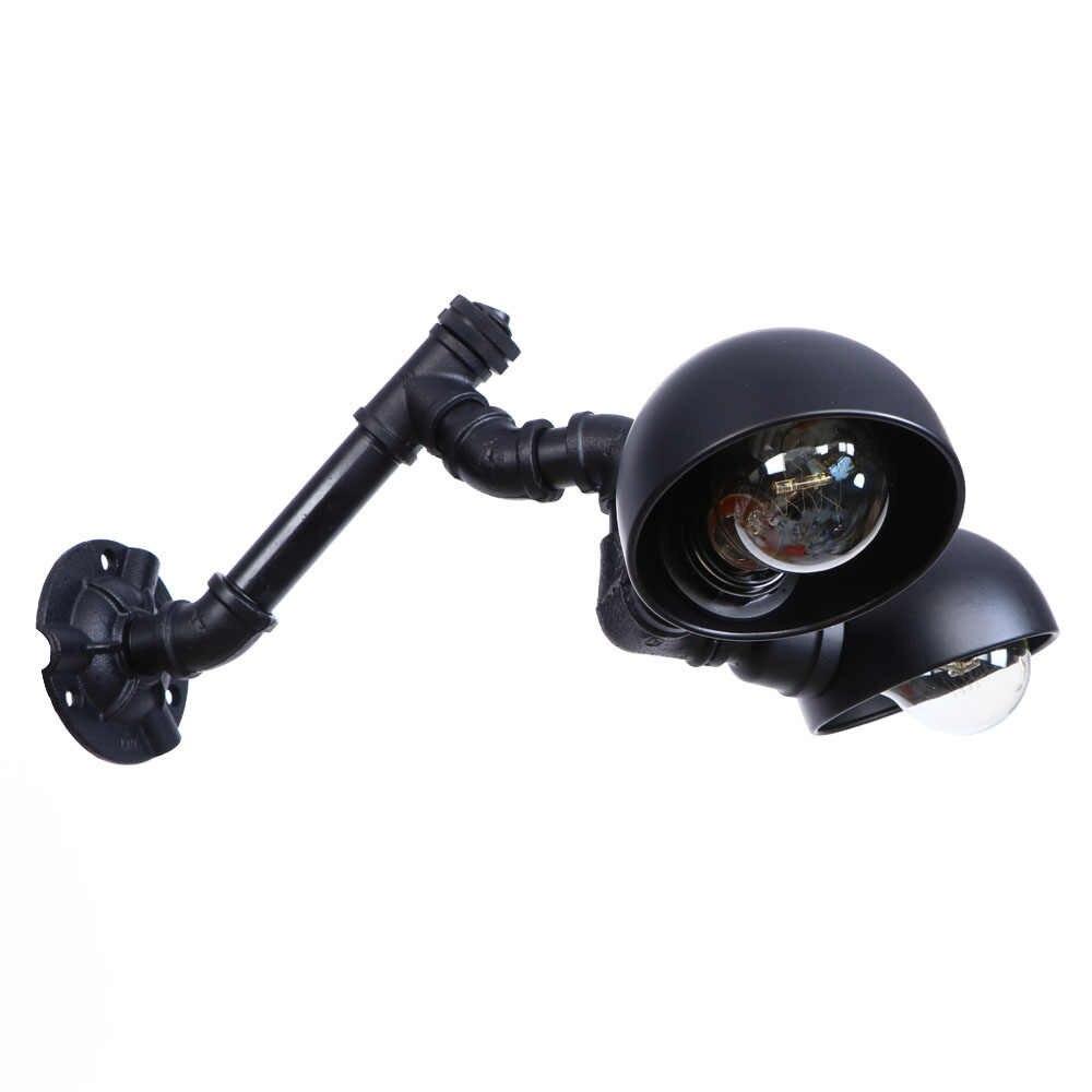 Промышленные Эдисона настенные бра Лофт Декор Ретро двойной водопровод Настенные светильники переключатель черный железный светодиодный настенный светильник Домашнее освещение