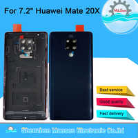 "Original M&Sen For 7.2"" Huawei Mate 20X 20 X Glass Back Battery Cover Case Rear Housing+Camera Frame+Glass+Flash For Mate 20X"