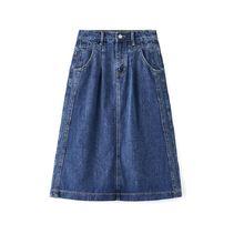 Весна осень Европейская Женская хлопковая джинсовая юбка короткая