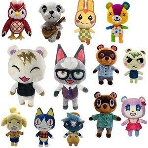 Animal que cruza o brinquedo de pelúcia dos desenhos animados raymond livre dá 1 pces amiibo cartão jingjiang boneca kk isabelle brinquedos de pelúcia 20cm 28cm