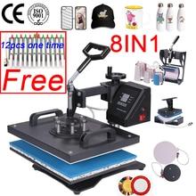 Addl Дисплей 30*38 см 8 в 1 комбинированный термопресс машина 2D Теплопередача машина сублимационный принтер для крышки кружки пластины футболки CE