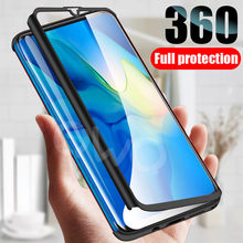 360 protective Phone case for Samsung Galaxy a50 a70 a40 a30 a20 a10 m20 Full matte cover for Samsung a60 m30 m10 Back pc Case(China)