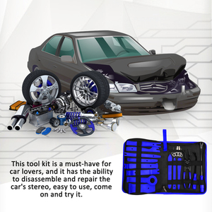 Image 2 - Car Trim Removal Tools Kit Auto Panel Dash Audio Radio Removal Installer Repair Pry Tools Kit Fastener Removal with Storage bag