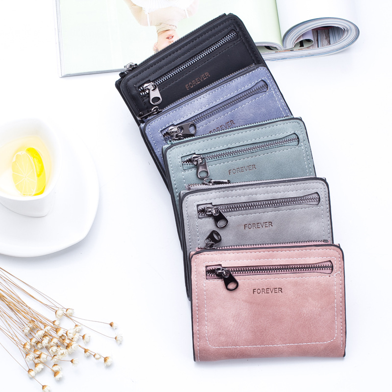 Women's Wallet Pu Leather Purses Fashion Brand Luxury Soft Letter Short Zipper Cute Multifunctional Mini Wallet Women Purse