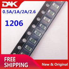40PCS Kit 1206 Fuse SMD Self Recovery Resettable 0.5A/1A/2A/2.6 Each 10 pieces стоимость
