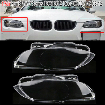 цена на MagicKit Left/Right Car Headlight Lens For Bmw E92 E93 Transparent Cover Car Light Lens Coupe Convertible 3 Series M3 For BMW
