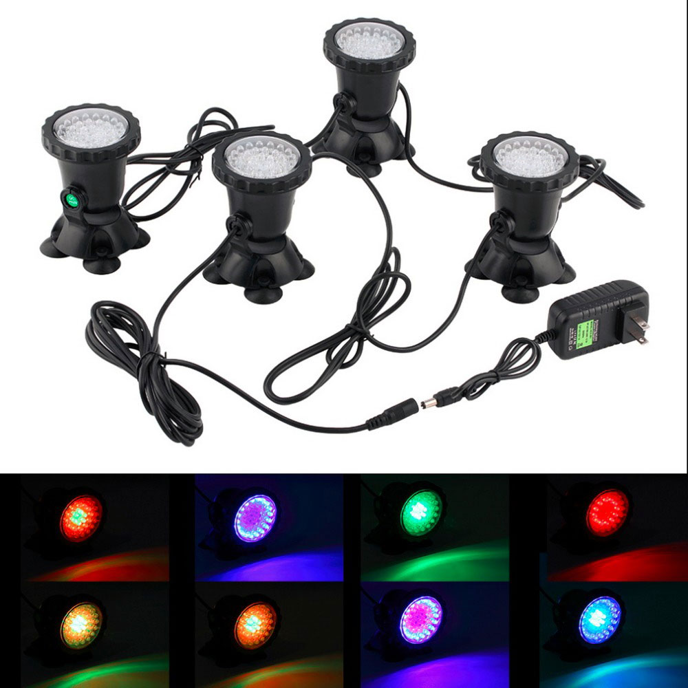 1pc-5cs 36 LEDs Color Landscaping Spotlights Water Grass Fill Light pool lighting light for Aquarium Fish Tank Pool Water Garden