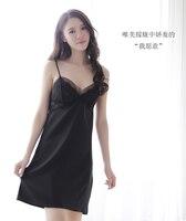 Sexy pajama girl summer and spring straps Ice silk MIDI dress Sexy underwear hot adult SAO dew milk emotional appeal