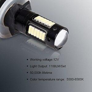 Image 5 - 2 adet H27 880 881 arabalar için Led ampul H27W/2 H27W2 otomatik sis lambası 780Lm 12V 881 LED ampuller sürüş gündüz çalışan işık 12V